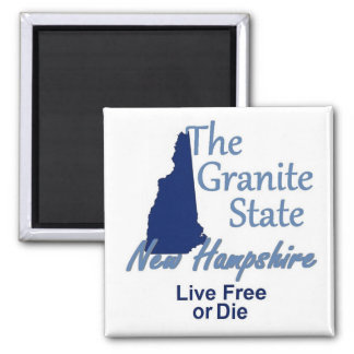 NEW HAMPSHIRE SQUARE MAGNET