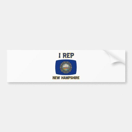 New Hampshire state designs Bumper Stickers