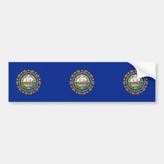 New Hampshire State Flag Design Bumper Sticker