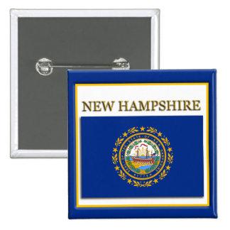 New Hampshire State Flag Design Button