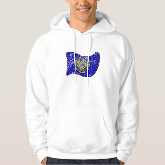 New Hampshire State Flag (Distressed) Hooded Sweatshirt