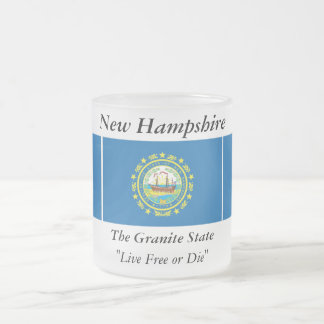 New Hampshire State Flag Frosted Glass Coffee Mug