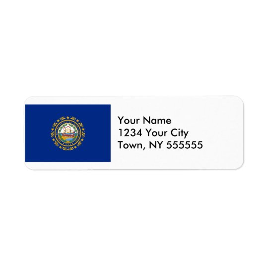 New Hampshire State Flag Return Address Label