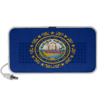 New Hampshire State Flag iPod Speakers