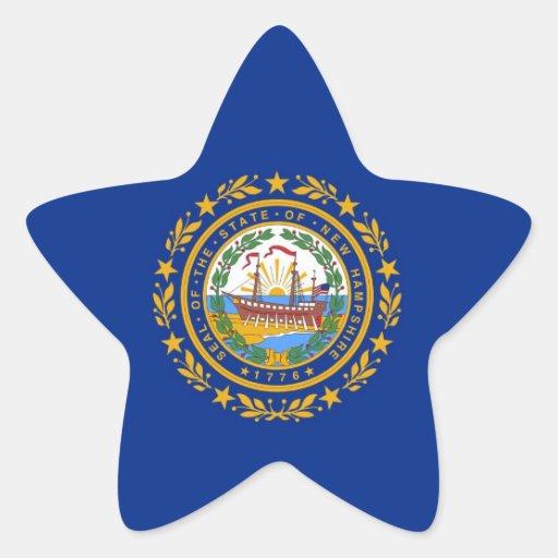 New Hampshire State Flag Star Sticker