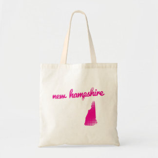 New Hampshire state in pink Tote Bag