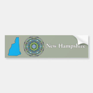 New Hampshire State Mandala Bumper Sticker
