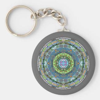New Hampshire State Mandala Keychain