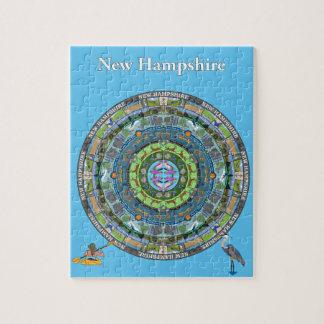 New Hampshire State Mandala Puzzle