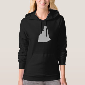 New Hampshire State Outline Hooded Pullovers