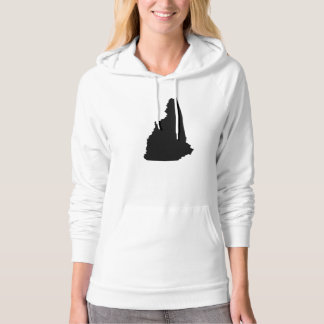 New Hampshire State Outline Hoody
