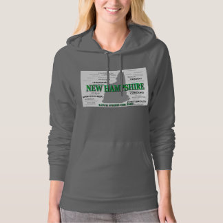 New Hampshire State Pride Map Silhouette Sweatshirt