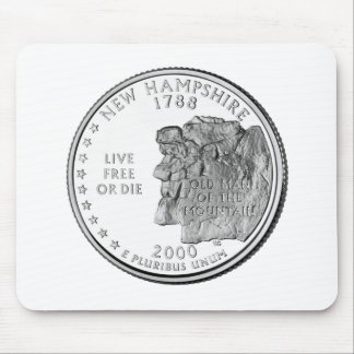 New Hampshire State Quarter Mousepads