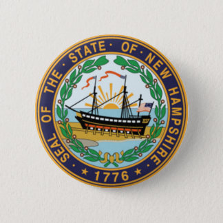 New Hampshire State Seal 6 Cm Round Badge