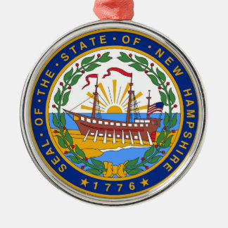 New Hampshire state seal america republic symbol f Christmas Ornament