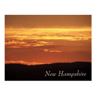 New Hampshire Sunset Postcard