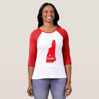 New Hampshire Teacher Tshirt (Red)