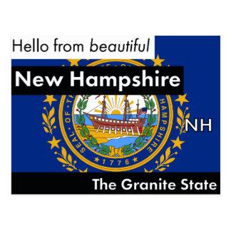 New Hampshire The Granite State Postcard