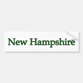 New Hampshire USA Bumper Sticker