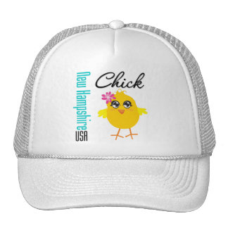 New Hampshire USA Chick Mesh Hat