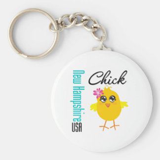 New Hampshire USA Chick Keychains