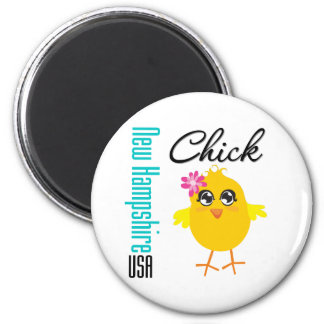 New Hampshire USA Chick Refrigerator Magnet