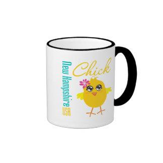 New Hampshire USA Chick Ringer Mug