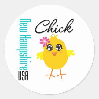 New Hampshire USA Chick Stickers