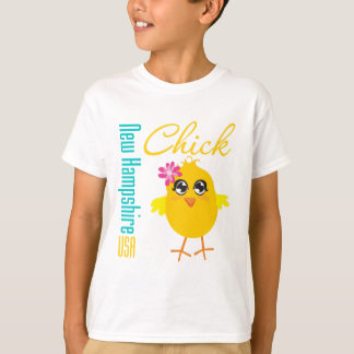New Hampshire USA Chick T-shirt
