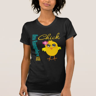 New Hampshire USA Chick Tee Shirts