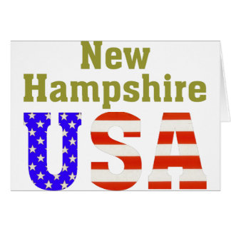New Hampshire USA! Greeting Card
