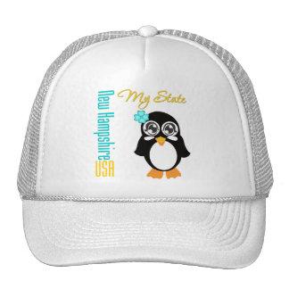 New Hampshire USA Penguin Mesh Hat