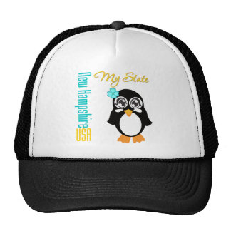 New Hampshire USA Penguin Trucker Hat