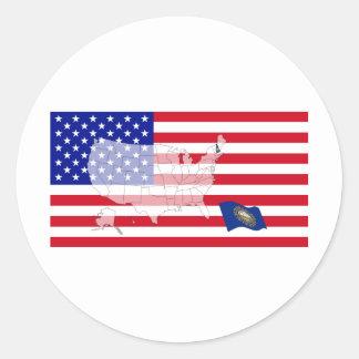 New Hampshire, USA Round Sticker