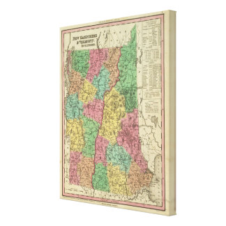 New Hampshire & Vermont 2 Canvas Print