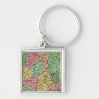 New Hampshire & Vermont 2 Key Ring