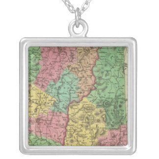 New Hampshire & Vermont 2 Silver Plated Necklace