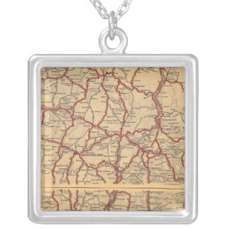 New Hampshire, Vermont 2 Silver Plated Necklace