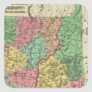 New Hampshire & Vermont 2 Square Sticker