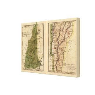 New Hampshire, Vermont 3 Canvas Print