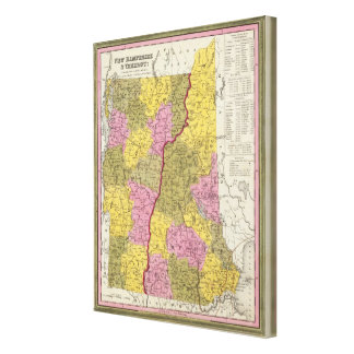 New Hampshire & Vermont Canvas Print