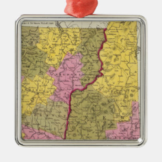 New Hampshire & Vermont Christmas Ornament