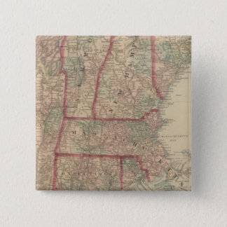 New Hampshire, Vermont, Massachusetts 15 Cm Square Badge