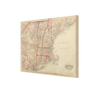 New Hampshire, Vermont, Massachusetts Canvas Print