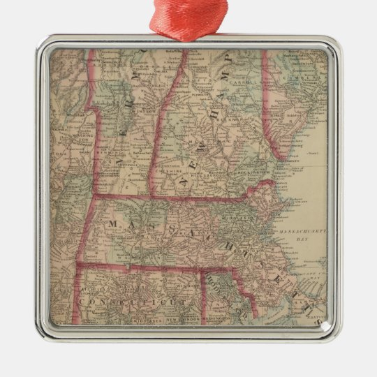 New Hampshire, Vermont, Massachusetts Christmas Ornament
