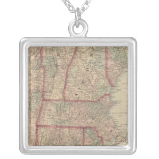 New Hampshire, Vermont, Massachusetts Silver Plated Necklace