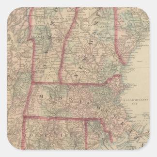 New Hampshire, Vermont, Massachusetts Square Sticker