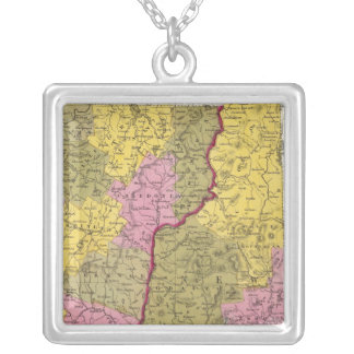 New Hampshire & Vermont Silver Plated Necklace