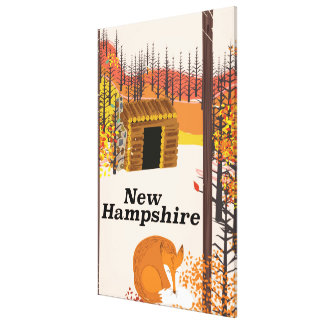 New Hampshire vintage USA travel poster Canvas Print