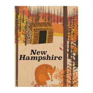 New Hampshire vintage USA travel poster Wood Prints